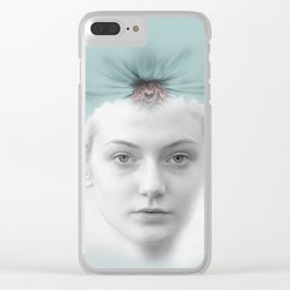 A girl who lived in a cloud Clear iPhone Case