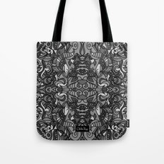 Top Hat Black and White Tote Bag