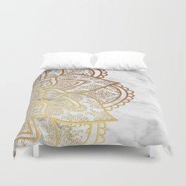 Mandala - Gold & Marble Duvet Cover
