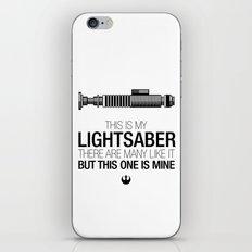 This is my Lightsaber (Luke Version) iPhone Skin