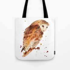 Owl, barn owl, woodland birds, harry potter wannabe gift, brown owl, watercolor owls Tote Bag