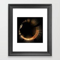 Fractal Solar Eclipse Framed Art Print