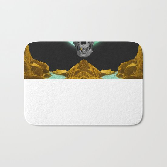 Spiritual Skull Of The Gold Land And The Millstone Bath Mat