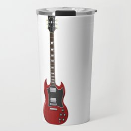 Red Electric Guitar Travel Mug