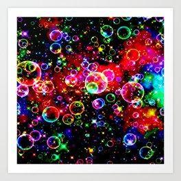 GALATHI Stunning Colors Bubbles Art Print