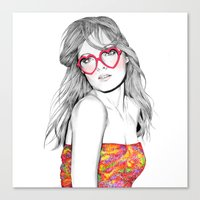 lolita Canvas Prints featuring Lolita by label tania