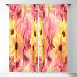 Summer Day Floral Blackout Curtain