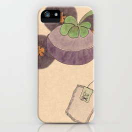 mangosteen & teabags iPhone Case