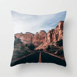 Roads of Zion Throw Pillow