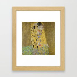 Gustav Klimt - The Kiss Framed Art Print