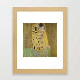 Gustav Klimt - The Kiss Framed Art Print