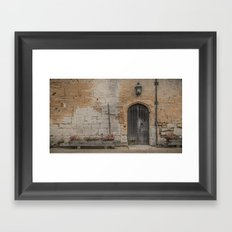 castle door... Framed Art Print