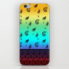 Rainbow Bandana Paisley iPhone Skin