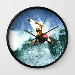 "Surfing ""Rocky Pt. Ripper"" Wall Clock"