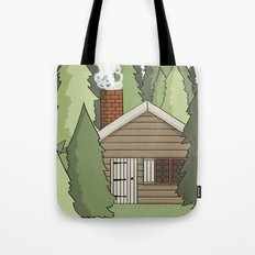 Deep in the Forest Illustration Tote Bag