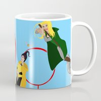 quidditch Mugs featuring Quidditch Sisters  by Katá Mart