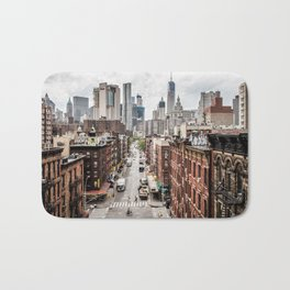 New York City Skyline (Brooklyn, Queens, Manhattan) Bath Mat