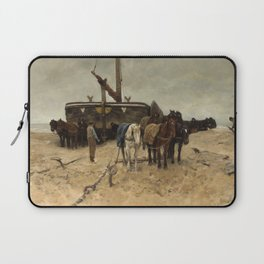 Anton Mauve - Fishing boat on the beach, 1882 Laptop Sleeve