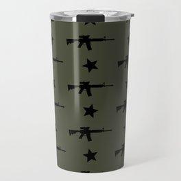 M4 Assault Rifle Pattern Travel Mug