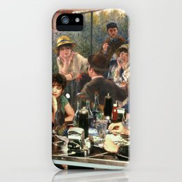 Renoir's Luncheon of the Boating Party & Grease iPhone Case