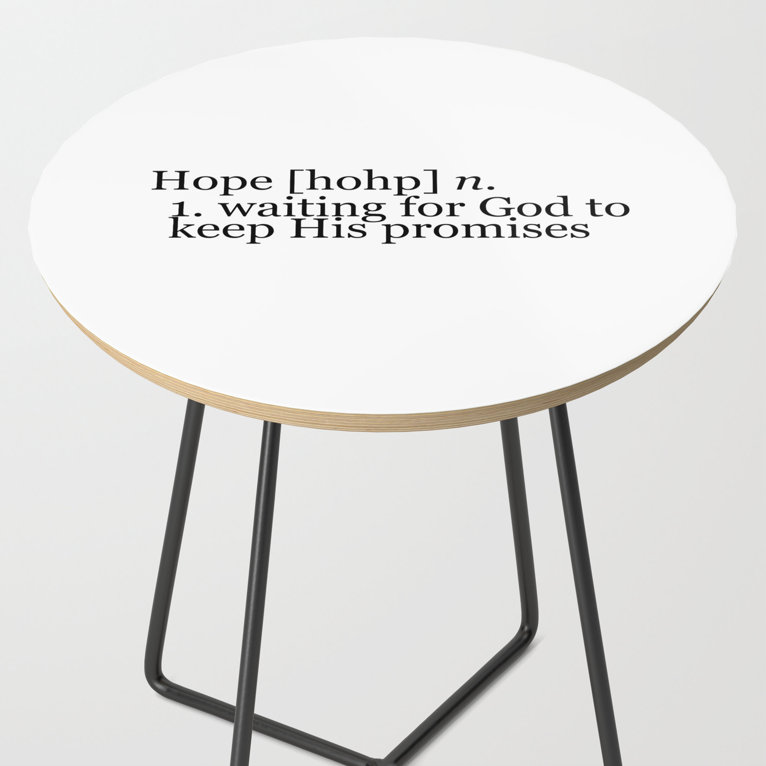 Definition Of Hope Side Table By Rebekahjoan Society6