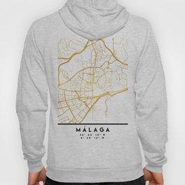 MALAGA SPAIN CITY STREET MAP ART Hoody