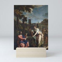 Sebastiano Ricci - Christ and the Woman of Samaria Mini Art Print