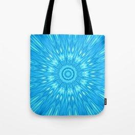 Blue Mandala Explosion Tote Bag