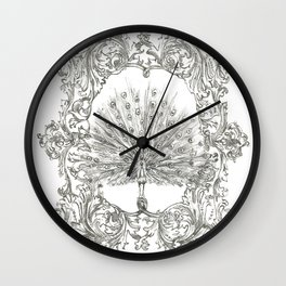 Military Peacock Wall Clock