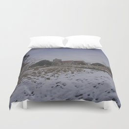 Boughton Church In Winter Duvet Cover