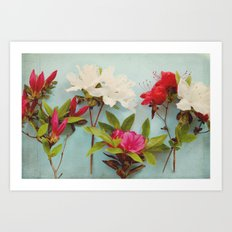 Blooming Azaleas Art Print