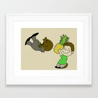 psych Framed Art Prints featuring Psych! by AriesNamarie