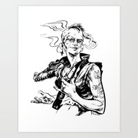 tank girl Art Prints featuring Tank Girl by Liana Buszka
