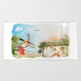 San Francisco + Los Angeles Beach Towel