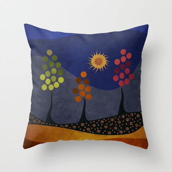 Paisaje y color Throw Pillow