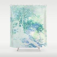 oriental Shower Curtains featuring Oriental by Aniko Gajdocsi
