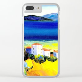 the lakeside village Clear iPhone Case