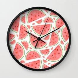 Watercolour Watermelon Wall Clock