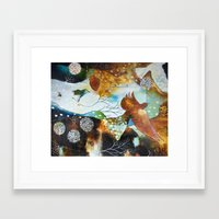 """flora bowley Framed Art Prints featuring """"Two Hearts"""" Original Painting by Flora Bowley by Flora Bowley"""