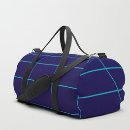 Minimalist Blue Gradient Grid Lines Duffle Bag