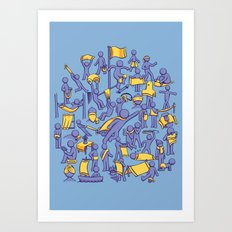 42 Uses for Towels Art Print