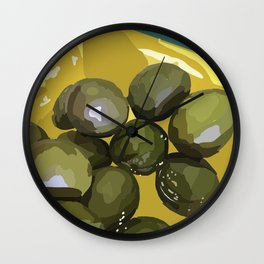 spanish olives Wall Clock