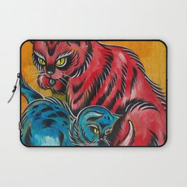 Blue and Red Cats Laptop Sleeve