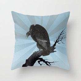 Old World Vulture Throw Pillow