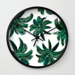 Watercolour Palms Wall Clock