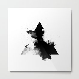 PLACE Triangle Smoke Metal Print