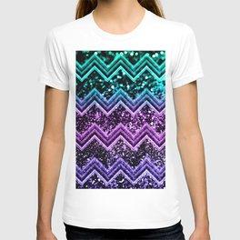Unicorn Glitter Chevron #4 #shiny #decor #art #society6 T-shirt