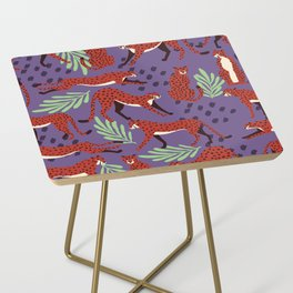 Dark cheetah pattern Side Table