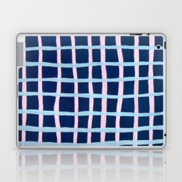 Pink and Blue Grid Laptop & iPad Skin