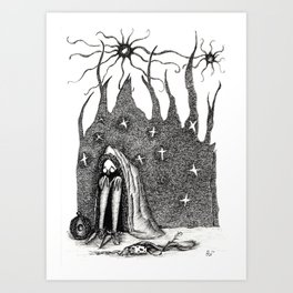 Into the Shelter Art Print